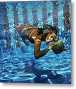 Underwater Drink Metal Print
