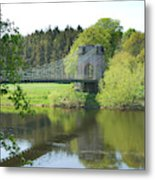 Union Chain Bridge At Horncliffe On River Tweed Metal Print