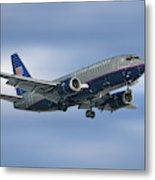 United Airlines Boeing 737-522 Metal Print