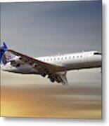 United Express Bombardier Crj-200lr Metal Print