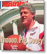 United States President Bill Clinton Sports Illustrated Cover Metal Print
