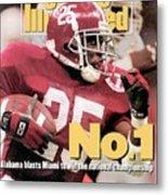University Of Alabama Derrick Lassic, 1993 Usf&g Financial Sports Illustrated Cover Metal Print