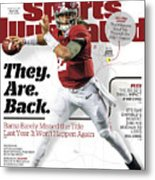 University Of Alabama Jalen Hurts, 2017 College Football Sports Illustrated Cover Metal Print