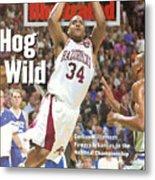 University Of Arkansas Corliss Williamson, 1994 Ncaa Sports Illustrated Cover Metal Print