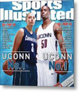 University Of Connecticut Diana Taurasi And Emeka Okafor Sports Illustrated Cover Metal Print