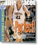 University Of Connecticut Jennifer Rizzotti, 1995 Ncaa Sports Illustrated Cover Metal Print
