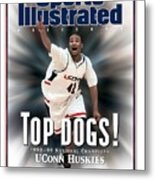 University Of Connecticut Khalid El-amin, 1999 Ncaa Sports Illustrated Cover Metal Print