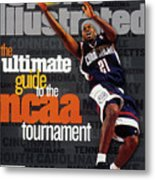 University Of Connecticut Ricky Moore, 1997 Ncaa Tournament Sports Illustrated Cover Metal Print