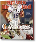 University Of Florida Florida Qb Tim Tebow, 2009 Fedex Bcs Sports Illustrated Cover Metal Print