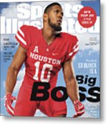 University Of Houston Ed Oliver, 2018 College Football Sports Illustrated Cover Metal Print
