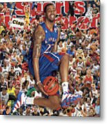 University Of Kansas Marcus Morris, 2011 March Madness Sports Illustrated Cover Metal Print