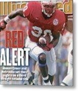 University Of Nebraska Ahman Green Sports Illustrated Cover Metal Print