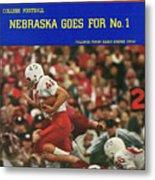 University Of Nebraska Frank Solich, 1965 Cotton Bowl Sports Illustrated Cover Metal Print