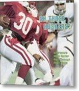 University Of Nebraska Mike Rozier, 1983 Kickoff Classic Sports Illustrated Cover Metal Print
