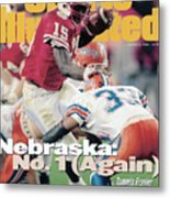 University Of Nebraska Qb Tommie Frazier, 1996 Tostitos Sports Illustrated Cover Metal Print
