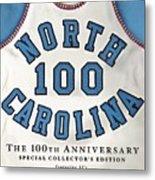 University Of North Carolina Basketball Memorabilia Sports Illustrated Cover Metal Print