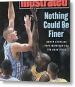University Of North Carolina Eric Montross, 1993 Ncaa Sports Illustrated Cover Metal Print
