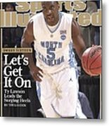 University Of North Carolina Ty Lawson, 2009 Ncaa South Sports Illustrated Cover Metal Print