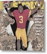 University Of Southern California Keyshawn Johnson, 1995 Sports Illustrated Cover Metal Print