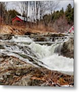Upper Cox Brook Fall Covered Bridge Metal Print