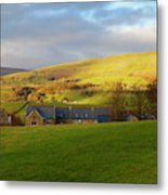 Upper Wensleydale And Lovely Seat From Hawes In Yorkshire Dales Metal Print
