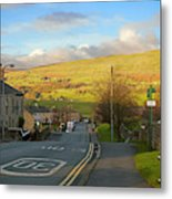 Upper Wensleydale From Hawes Yorkshire Dales National Park Metal Print