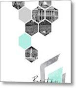 Urban Design Boston Cityscapes Metal Print