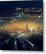 Urban Landscape Of Post Apocalyptic Metal Print