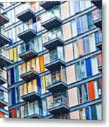 Urban Life Symbol, Densely Populated Metal Print