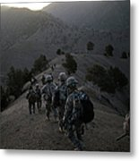 Us Army Searches For Militants In Metal Print