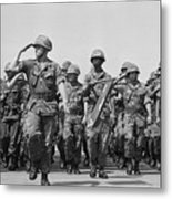 U.s. Marines Marching In Review Metal Print