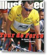 Us Postal Service Team Lance Armstrong, 2000 Tour De France Sports Illustrated Cover Metal Print