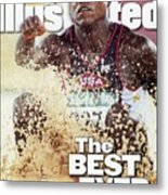 Usa Carl Lewis, 1996 Summer Olympics Sports Illustrated Cover Metal Print