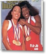 Usa Florence Griffith-joyner And Jackie Joyner-kersee, 1988 Sports Illustrated Cover Metal Print