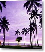Usa, Hawaii, Oahu, Honolulu, Waikiki Metal Print