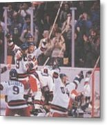 Usa Hockey, 1980 Winter Olympics Sports Illustrated Cover Metal Print