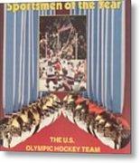 Usa Hockey, 1980 Winter Olympics Sports Illustrated Cover Metal Print