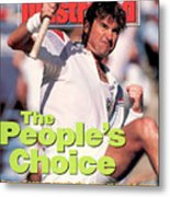 Usa Jimmy Connors, 1991 Us Open Sports Illustrated Cover Metal Print