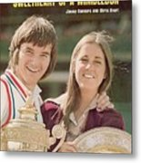 Usa Jimmy Connors And Usa Chris Evert, 1974 Wimbledon Sports Illustrated Cover Metal Print