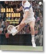 Usa John Mcenroe, 1981 Wimbledon Sports Illustrated Cover Metal Print