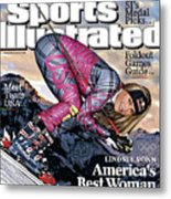 Usa Lindsey Vonn, 2010 Vancouver Olympic Games Preview Issue Sports Illustrated Cover Metal Print