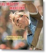 Usa Martina Navratilova, 1983 Us Open Sports Illustrated Cover Metal Print