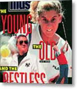 Usa Monica Seles, 1990 French Open Sports Illustrated Cover Metal Print