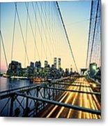 Usa, New York City, Manhattan, View Metal Print