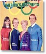 Usa Tamara Mckinney, Scott Hamilton, Rosalynn Sumners, And Sports Illustrated Cover Metal Print