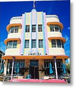 Usa,florida,miami Beach,art Deco Metal Print