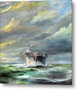 Uss Enterprise Returns To Pearl Metal Print