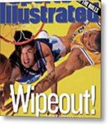 Utah Jazz John Stockton, 1998 Nba Western Conference Finals Sports Illustrated Cover Metal Print