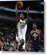 Utah Jazz V Milwaukee Bucks Metal Print