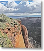 Valley Colorado National Monument Sky Clouds 2892 Metal Print